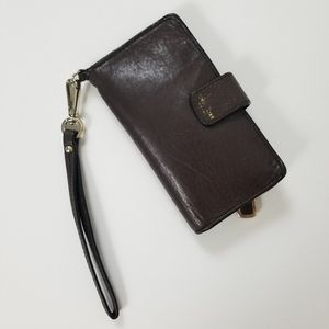 Coach Leather Bifold Wallet Brown